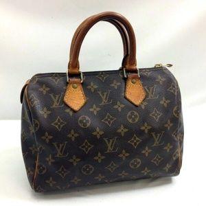 Auth Louis Vuitton Speedy 25 Bag #1010L15
